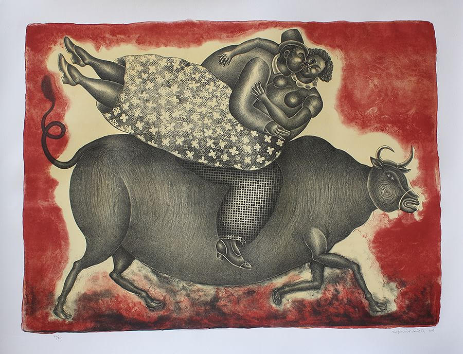 Pareja sobre Toro